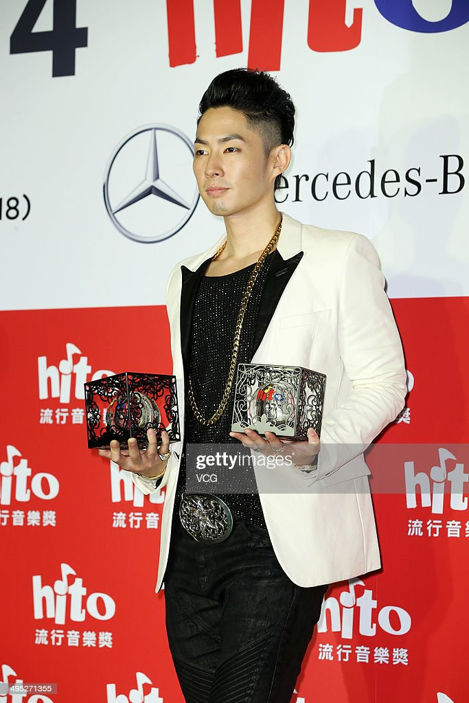 Singer <a gi-track='captionPersonalityLinkClicked' href=/galleries/search?phrase=Vanness+Wu&family=editorial&specificpeople=644546 ng-click='$event.stopPropagation()'>Vanness Wu</a> attends 2014 Hito Pop Music Awarding Ceremony at Taipei Arena on June 1, 2014 in Taipei, Taiwan.