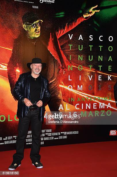 Singer Vasco Rossi attends 'Vasco Tutto In Una Notte Livekom015' Premiere on March 14 2016 in Milan Italy