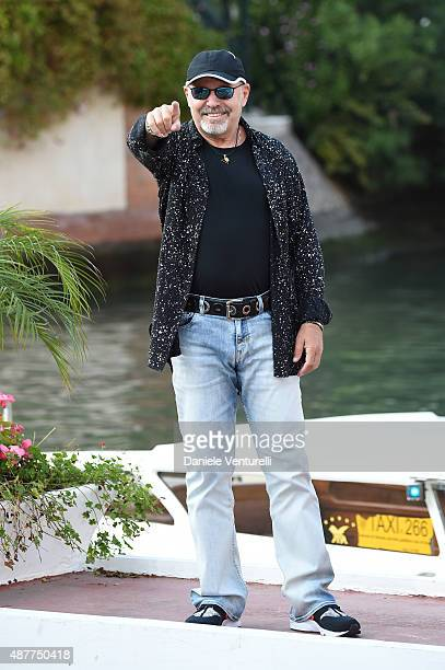 Singer Vasco Rossi is seen during the 72nd Venice Film Festival on September 11 2015 in Venice Italy
