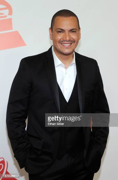Singer Víctor Manuel arrives at the 2011 Latin Recording Academy's Person of the Year honoring Shakira at Mandalay Bay Resort Casino on November 9...