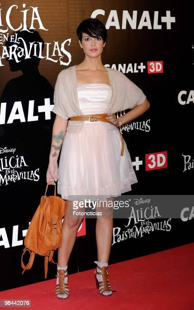 Singer Vega attends 'Alicia en el Pais de las Maravillas' premiere at Proyecciones Cinema on April 13 2010 in Madrid Spain