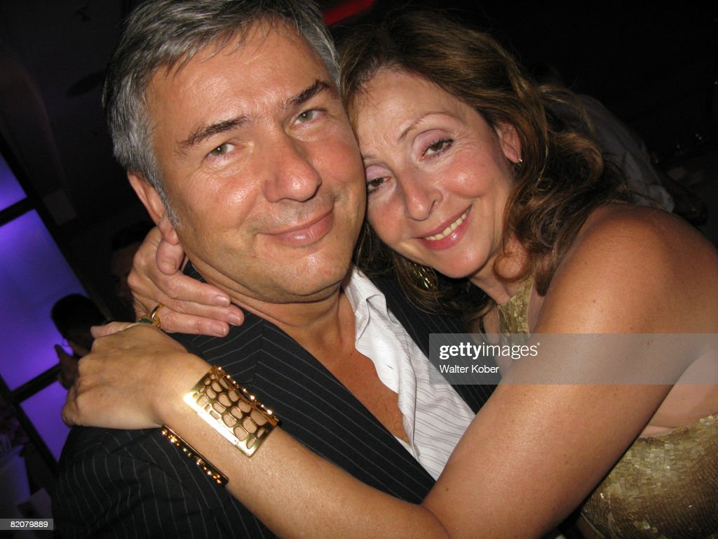 Singer Vicky Leandros and mayor of Berlin Klaus Wowereit pose during the wedding celebrations of Udo Walz and his partner Carsten Thamm at the China Club on July 26, 2008 in Berlin, Germany .