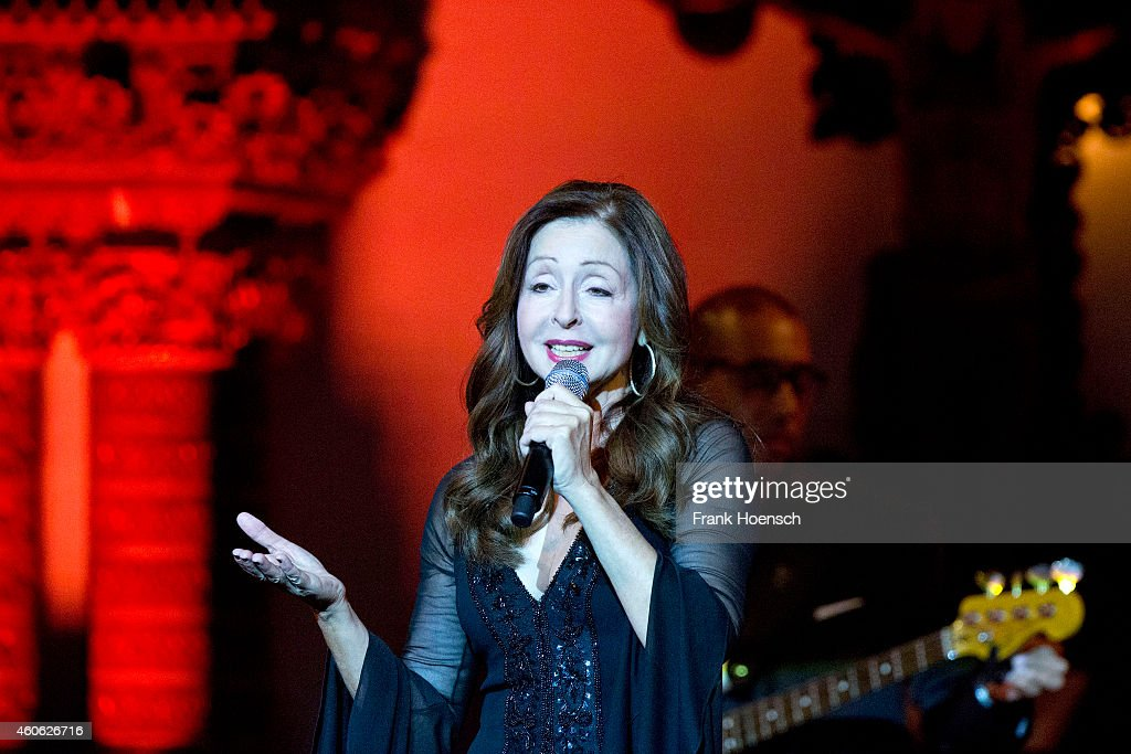 Singer Vicky Leandros performs live during a concert at the Passionskirche on December 17 2014 in Berlin Germany