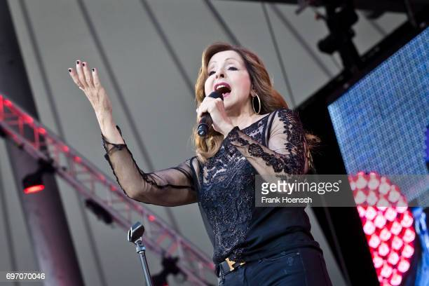 Singer Vicky Leandros performs live during the show 'Die Schlagernacht des Jahres' at the Waldbuehne on June 17 2017 in Berlin Germany