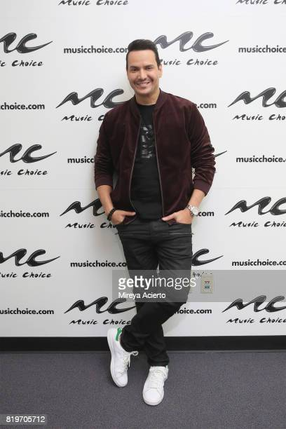 Singer Victor Mannuel visits Music Choice on July 20 2017 in New York City