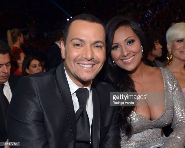 Singer Victor Manuelle and guest attend the 13th annual Latin GRAMMY Awards held at the Mandalay Bay Events Center on November 15 2012 in Las Vegas...