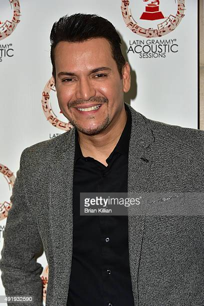 Singer Victor Manuelle attends the Latin GRAMMY Acoustic Sessions NYC With Victor Manuelle at Hunter College on October 8 2015 in New York City