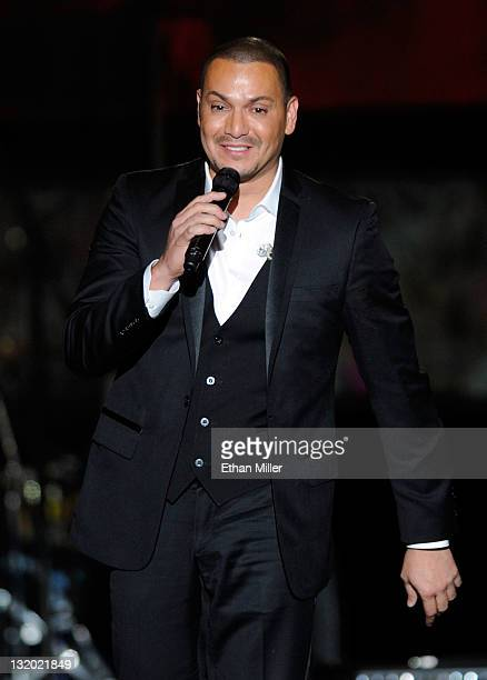 Singer Victor Manuelle performs onstage during the 2011 Latin Recording Academy's Person of the Year honoring Shakira at Mandalay Bay Resort Casino...