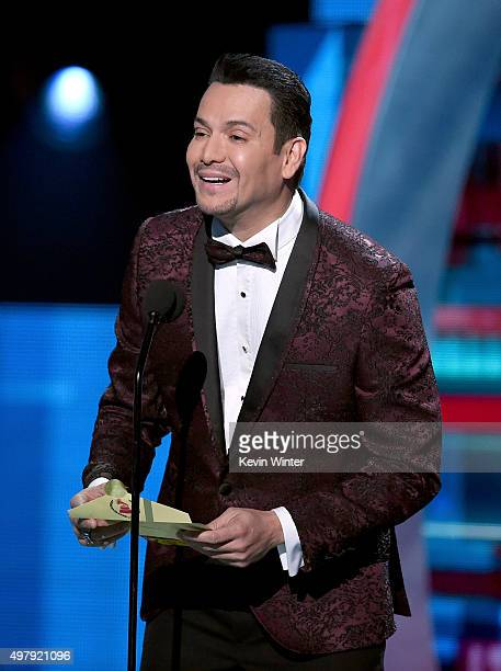 Singer Victor Manuelle speaks onstage during the 16th Latin GRAMMY Awards at the MGM Grand Garden Arena on November 19 2015 in Las Vegas Nevada