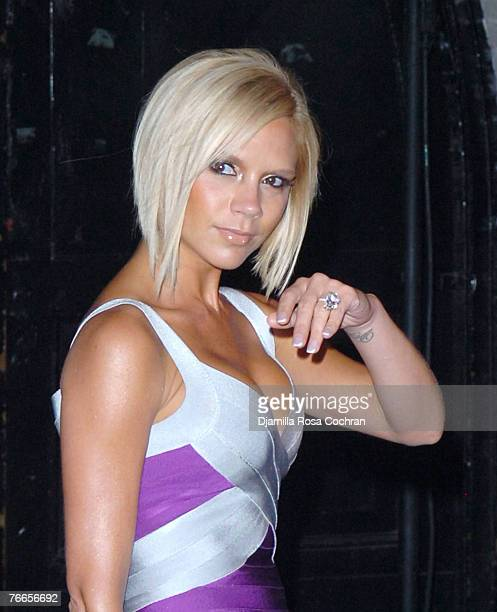 Singer Victoria Beckham at Marc Jacobs Spring 2008 during MercedesBenz Fashion Week at the New York State Armory on September 10 2007 in New York City