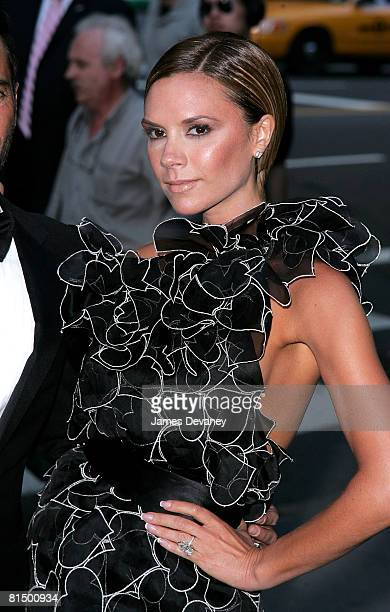 Singer Victoria Beckham attends the 2008 CFDA Fashion Awards at The New York Public Library on June 2 2008 in New York City