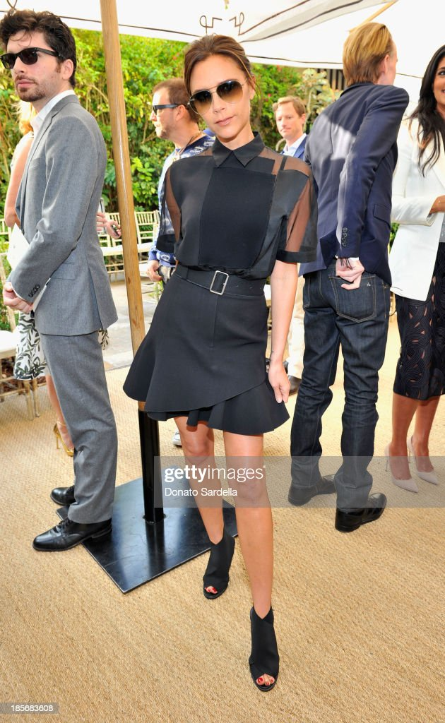Singer Victoria Beckham attends the 2013 CFDA/Vogue Fashion Fund Event Presented by thecorner.com and Supported by Audi, Living Proof, and MAC Cosmetics at the Chateau Marmont on October 23, 2013 in Los Angeles, California.