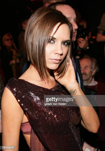 Singer Victoria Beckham attends the Marc Jacobs Fall 2008 Fashion Show during MercedesBenz Fashion Week in New York City on February 8 2008
