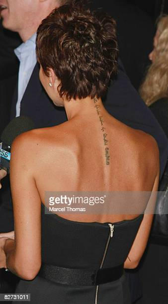 Singer Victoria Beckham attends the Marc Jacobs Spring 2009 fashion show during MercedesBenz Fashion Week at the NY State Armory on September 8 2008...