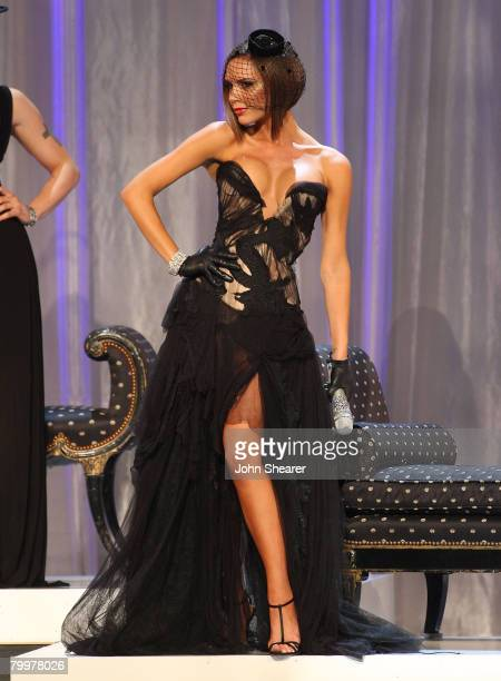 Singer Victoria Beckham onstage at the 12th Victoria's Secret Fashion show at the Kodak Theater on November 15 2007 in Hollywood California