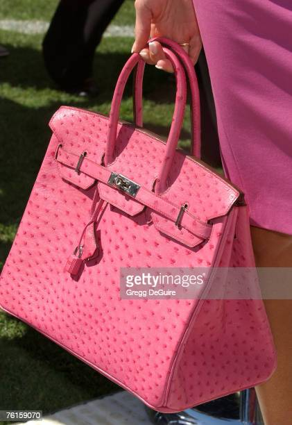Singer Victoria Beckham's purse at the 'David Beckham Official Presentation' press conference at the Home Depot Center on July 12 2007 in Carson...