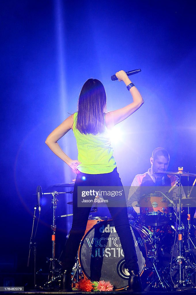 Singer Victoria Justice performs at the Iowa State Fair on August 13, 2013 in Des Moines, Iowa.