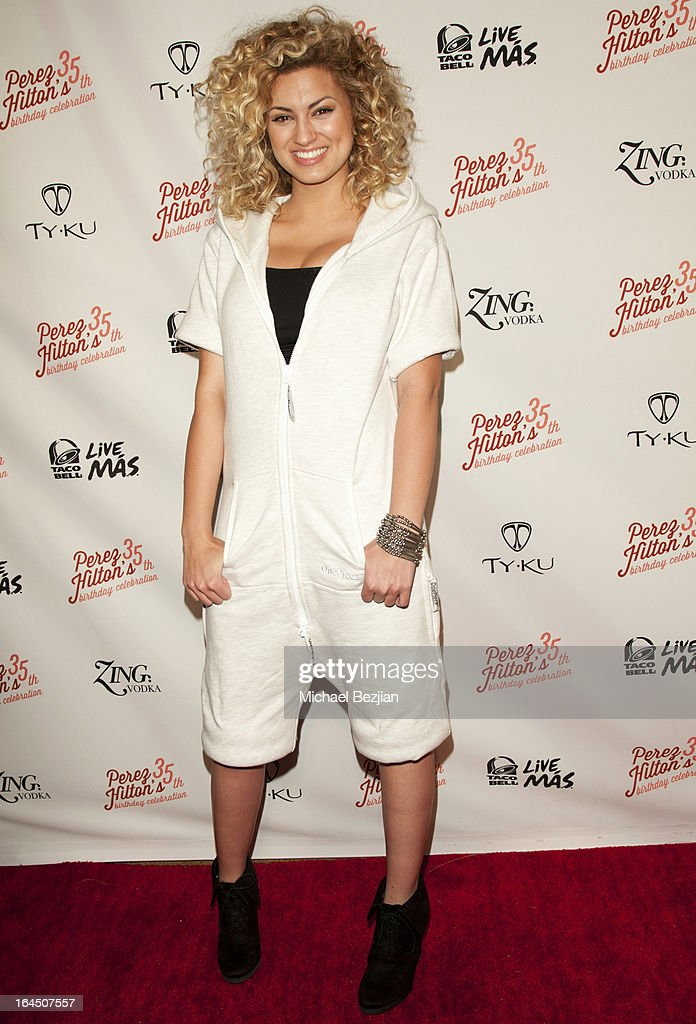 Singer Victoria 'Tori' Kelly arrives at Perez Hilton's 35th Birthday Party Extravaganza - Arrivals at El Rey Theatre on March 23, 2013 in Los Angeles, California.