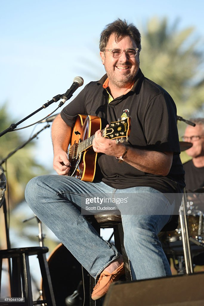 Singer Vince Gill performs onstage with the Time Jumpers during day 1 of the Stagecoach Country Music Festival at The Empire Polo Club on April 24...