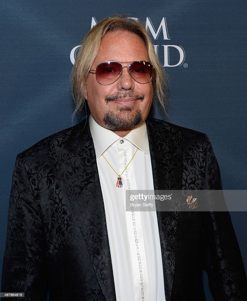 Singer Vince Neil of Motley Crue arrives at the VIP Pre-Fight Party for 'High Stakes: Mayweather v. Berto' presented by Showtime at MGM Grand Garden Arena on September 12, 2015 in Las Vegas, Nevada.
