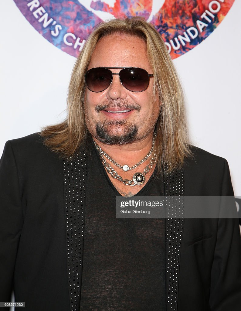 Singer Vince Neil of Motley Crue attends Criss Angel's HELP (Heal Every Life Possible) charity event at the Luxor Hotel and Casino benefiting pediatric cancer research and treatment on September 12, 2016 in Las Vegas, Nevada.