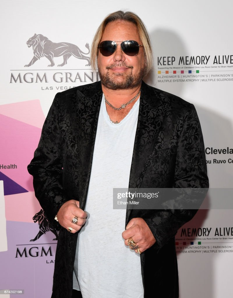 Singer Vince Neil of Motley Crue attends the 21st annual Keep Memory Alive 'Power of Love Gala' benefit for the Cleveland Clinic Lou Ruvo Center for Brain Health honoring Ronald O. Perelman at MGM Grand Garden Arena on April 27, 2017 in Las Vegas, Nevada.