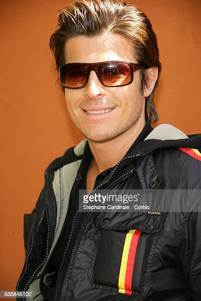 Singer Vincent Niclo at Roland Garros Village