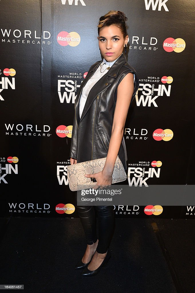 Singer Vita Chambers attends World MasterCard Fashion Week Fall 2013 Collection at David Pecaut Square on March 18, 2013 in Toronto, Canada.