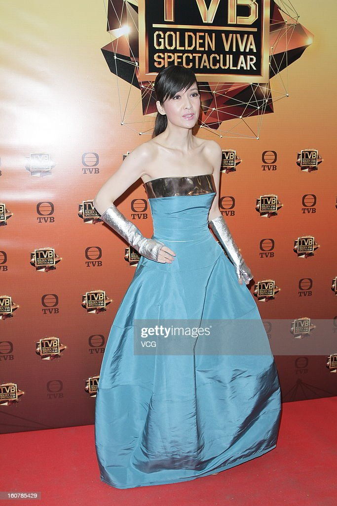 Singer <a gi-track='captionPersonalityLinkClicked' href=/galleries/search?phrase=Vivian+Chow&family=editorial&specificpeople=2096353 ng-click='$event.stopPropagation()'>Vivian Chow</a> attends TVB Golden Viva Spectacular at TVB City on February 5, 2013 in Hong Kong.