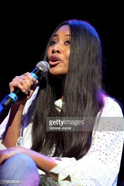 Singer VV Brown performs live on stage during the 'Baaba Maal In Praise of The Female Voice' concert at the Royal Festival Hall on March 12 2011 in...