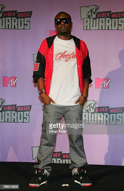 Singer Wale poses in the pressroom during the 2007 MTV Video Music Awards held at The Palms Hotel and Casino on September 9 2007 in Las Vegas Nevada