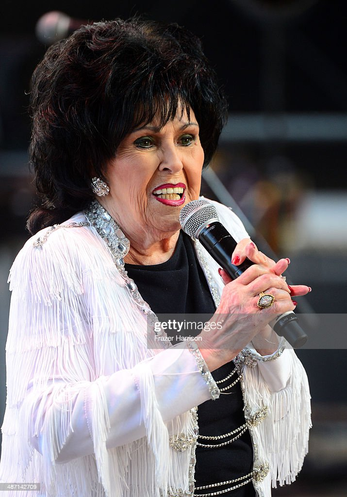 Singer <a gi-track='captionPersonalityLinkClicked' href=/galleries/search?phrase=Wanda+Jackson&family=editorial&specificpeople=765253 ng-click='$event.stopPropagation()'>Wanda Jackson</a> performs onstage during day 3 of 2014 Stagecoach: California's Country Music Festival at the Empire Polo Club on April 27, 2014 in Indio, California.