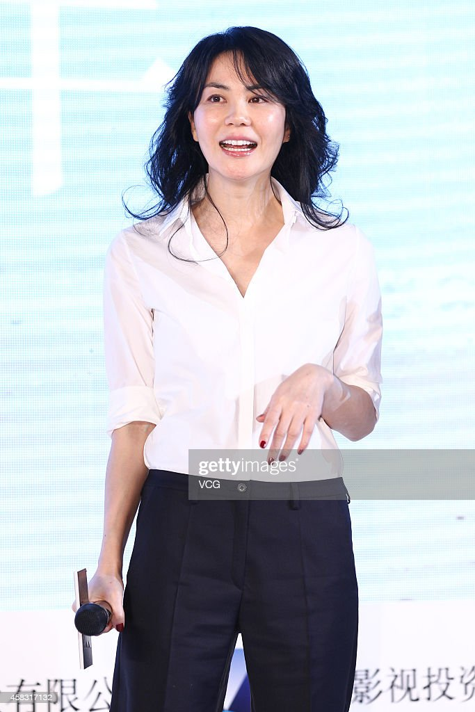 Singer Wang Fei attends press conference of new movie 'Cling To Old Days' directed by Zhang Yibai on November 3 2014 in Beijing China