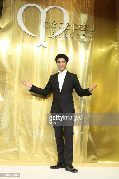 Singer Wang Leehom attends a Cle de Peau Beaute event on April 27 2017 in Shanghai China