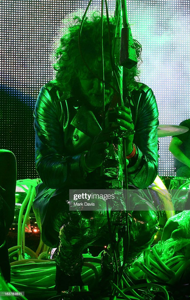 Singer Wayne Coyne of the Flaming Lips performs at the 2013 SXSW Music, Film + Interactive Festival held at the Auditorium Shores on March 15, 2013 in Austin, Texas.