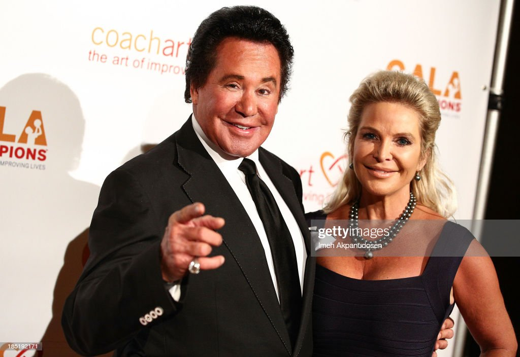 Singer <a gi-track='captionPersonalityLinkClicked' href=/galleries/search?phrase=Wayne+Newton&family=editorial&specificpeople=213441 ng-click='$event.stopPropagation()'>Wayne Newton</a> (L) and his wife, Kathleen McCrone, attend CoachArt's 9th Annual 'Gala Of Champions' at The Beverly Hilton Hotel on October 17, 2013 in Beverly Hills, California.