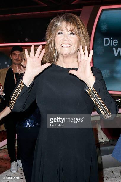 Singer Wencke Myhre during the tv show 'Die schoensten Weihnachtshits' on November 30 2016 in Munich Germany