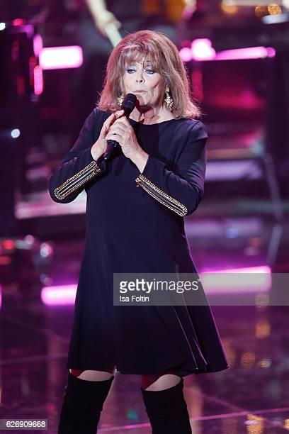 Singer Wencke Myhre performs at the tv show 'Die schoensten Weihnachtshits' on November 30 2016 in Munich Germany
