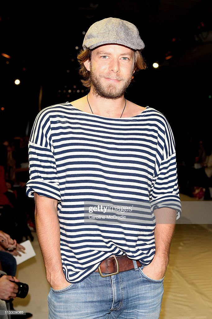 Singer Wes Carr attends the Bec & Bridge catwalk show during Rosemount Australian Fashion Week Spring/Summer 2011/12 at Overseas Passenger Terminal on May 2, 2011 in Sydney, Australia.