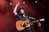 Singer Wesley Schultz of the American band The Lumineers performs live during a concert at the Admiralspalast on May 6 2016 in Berlin Germany