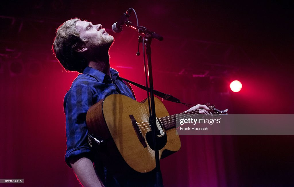 Singer <a gi-track='captionPersonalityLinkClicked' href=/galleries/search?phrase=Wesley+Schultz&family=editorial&specificpeople=9160718 ng-click='$event.stopPropagation()'>Wesley Schultz</a> of The Lumineers performs live during a concert at the Huxleys on February 28, 2013 in Berlin, Germany.