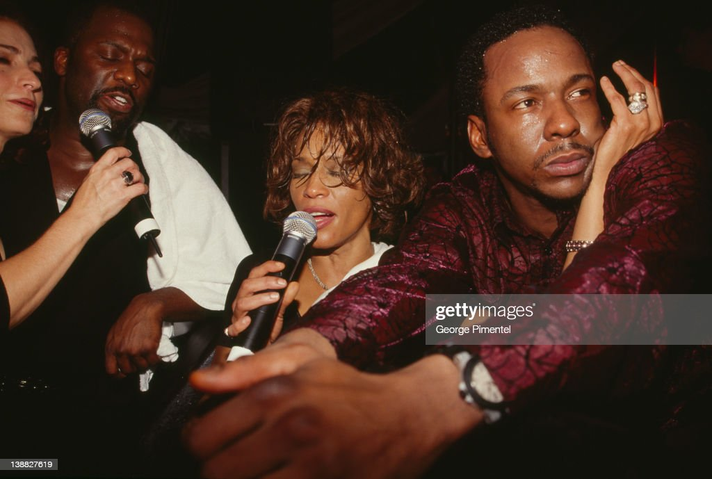 Singer <a gi-track='captionPersonalityLinkClicked' href=/galleries/search?phrase=Whitney+Houston&family=editorial&specificpeople=201541 ng-click='$event.stopPropagation()'>Whitney Houston</a> and <a gi-track='captionPersonalityLinkClicked' href=/galleries/search?phrase=Bobby+Brown+-+Singer&family=editorial&specificpeople=12208409 ng-click='$event.stopPropagation()'>Bobby Brown</a> attend the rebirth of the Ocean Club Resort on December 9, 2000 in Paradise Island, Bahamas
