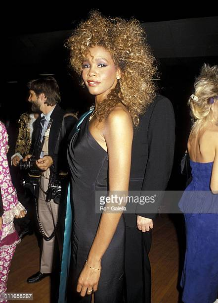 Singer Whitney Houston attends the 13th Annual American Music Awards on January 27 1986 at Shrine Auditorium in Los Angeles California