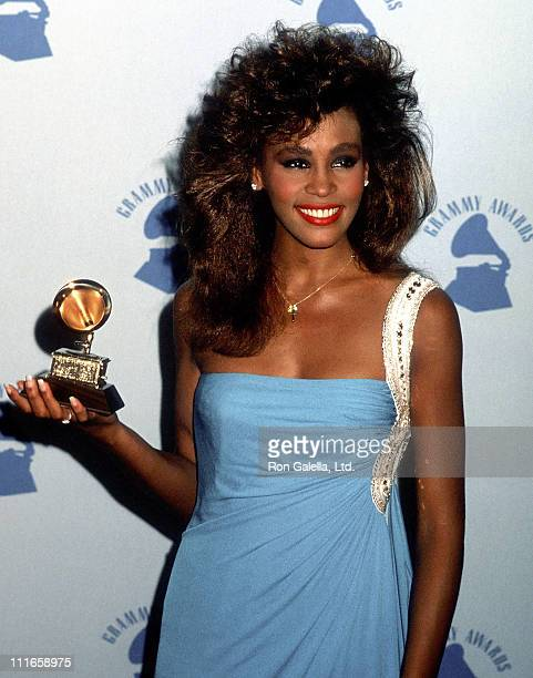 Singer Whitney Houston attends the 28th Annual Grammy Awards on February 25 1986 at Shrine Auditorium in Los Angeles California