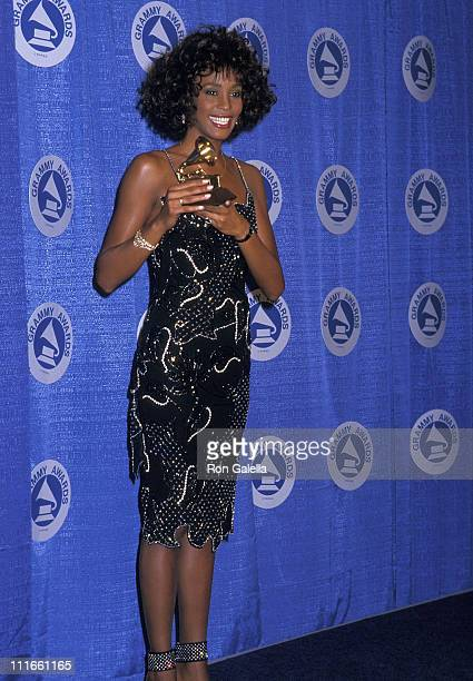 Singer Whitney Houston attends the 30th Annual Grammy Awards on March 2 1988 at Radio City Music Hall in New York City