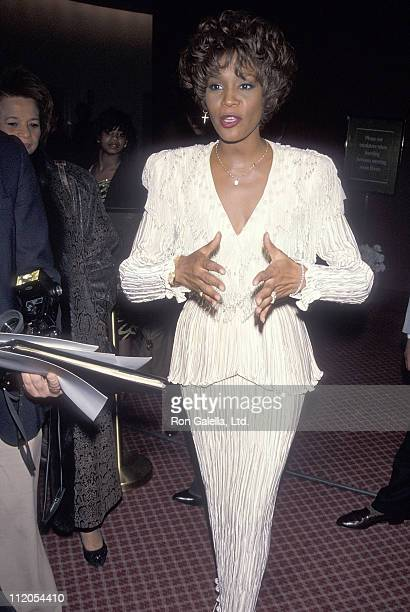 Singer Whitney Houston attends the Fourth Annual Essence Awards on October 19 1990 at Radio City Music Hall in New York City