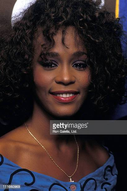 Singer Whitney Houston attends the Press Conference to Announce Her Appearance at A Benefit Concert for The United Negro College Fund at Madison...