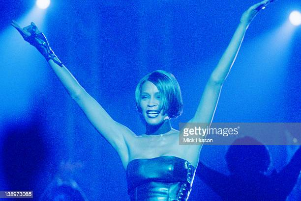 Singer Whitney Houston performing at the 1999 Brit Awards at Earl's Court 16th February 1999