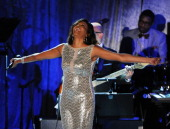 Singer Whitney Houston performs onstage during the 2011 PreGrammy Gala Salute to Industry Icons with Clive Davis Honoring David Geffen at the Beverly...