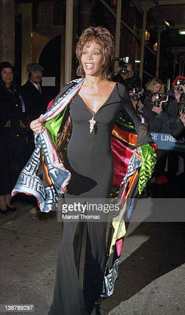 Singer Whitney Houston seen arriving at City Center on December 021995 in New York City